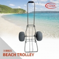 Y30001 Folding kayak canoe beach cart fishing cargo trolley with two balloon wheels