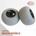 Y05010 12 inch Pneumatic PU tyre beach balloon kayak cart/trolley beach wheels