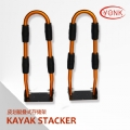 Y05001 Top grades Kayak Stacker Rooftop Kayak Carrier with Tie-Downs