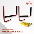 Y08002 Steel folding canoe kayak wall mount storage rack kayak ladder canoe arms